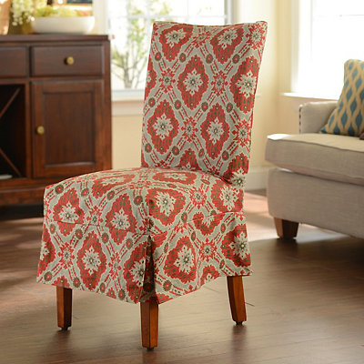 Rust Medallion Parsons Chair Slipcover