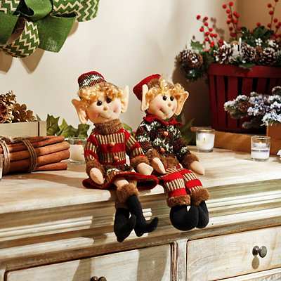 Rustic Boy and Girl Elves, Set of 2
