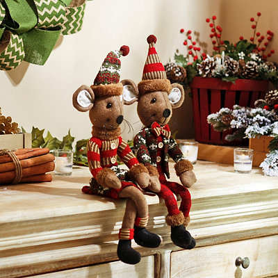 Rustic Boy and Girl Mice, Set of 2