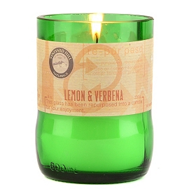 Lemon & Verbena Repurposed Candle, 8 oz.