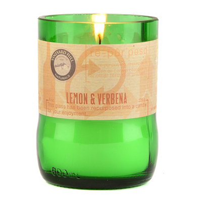 Lemon & Verbena Repurposed Candle, 8 oz.