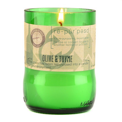 Olive and Thyme Repurposed Candle, 8 oz.