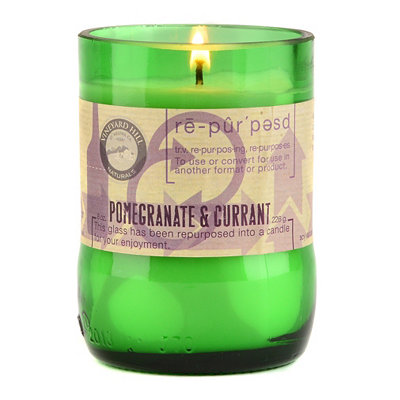 Pomegranate and Currant Repurposed Candle, 8 oz.