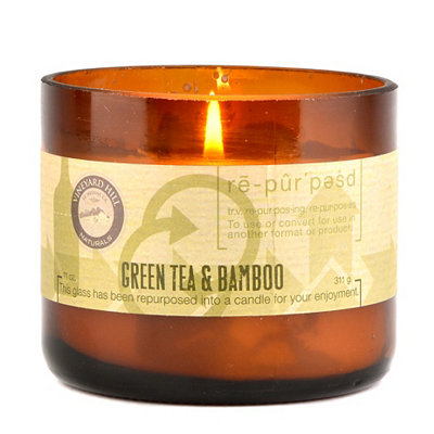 Green Tea & Bamboo Repurposed Candle, 11 oz.