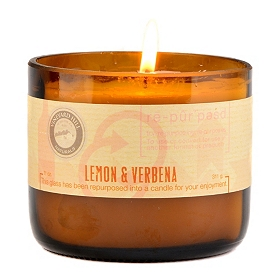 Lemon & Verbena Repurposed Candle, 11 oz.