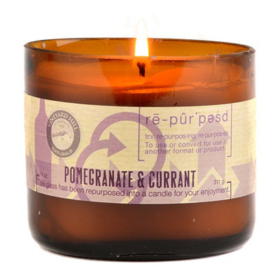 Pomegranate and Currant Repurposed Candle, 11 oz.