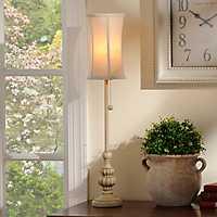 Ivory Curve Buffet Lamp