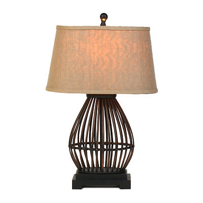 Open Rattan Table Lamp