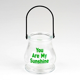 You Are My Sunshine Glass Lantern