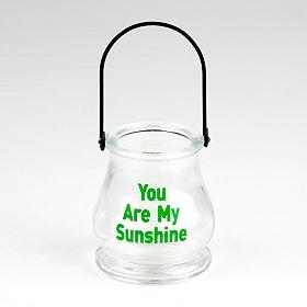 You Are My Sunshine Glass Lantern