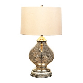 Vintage Silver Mercury Glass Table Lamp