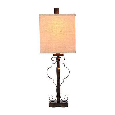 Iron Quatrefoil Table Lamp