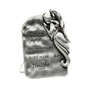 Pewter Guardian Angel Statue