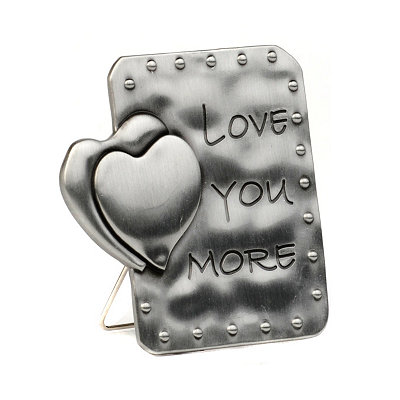 Pewter Love You More Statue