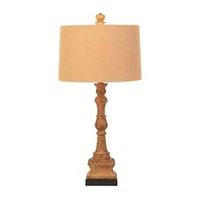 Turnstyle Woodtone Table Lamp