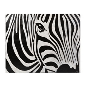 Zebra Closeup Canvas Art Print