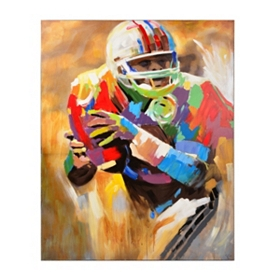 Quarterback Canvas Art Print