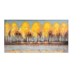 Autumn Tree Reflections Canvas Art Print