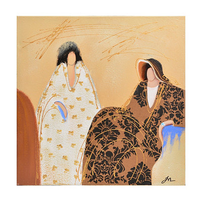 Draped Women I Canvas Art Print