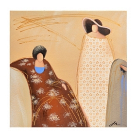 Draped Women II Canvas Art Print