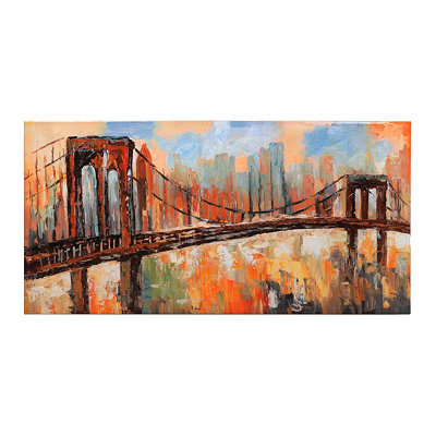 Brown Bridge Canvas Art Print