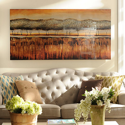 Bronze Treeline Canvas Art Print