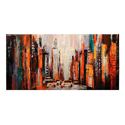 City Walk Canvas Art Print