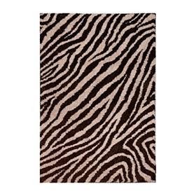 Zebra Shag Area Rug, 5x8