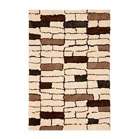 Brick Shag Area Rug, 5x8