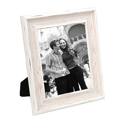 Distressed White Picture Frame, 8x10