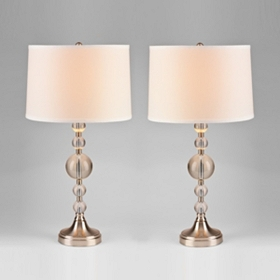 Fitzroy Crystal Table Lamps, Set of 2