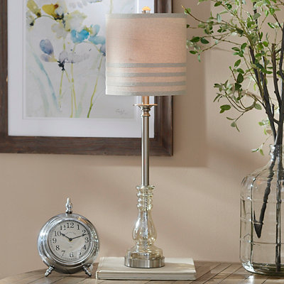 Majestic Glass Buffet Lamp