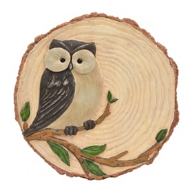 Rustic Owl Stepping Stone