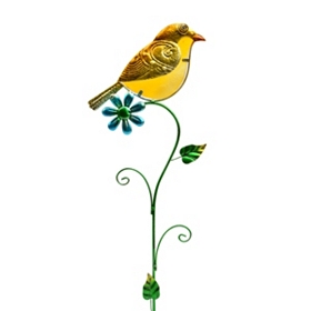 Yellow Bird Lawn Stake
