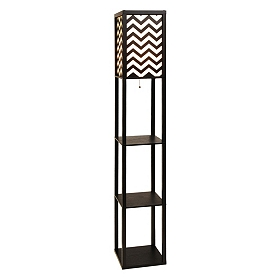Chevron Shelf Floor Lamp