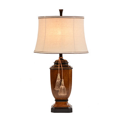 Brown Tassel Table Lamp