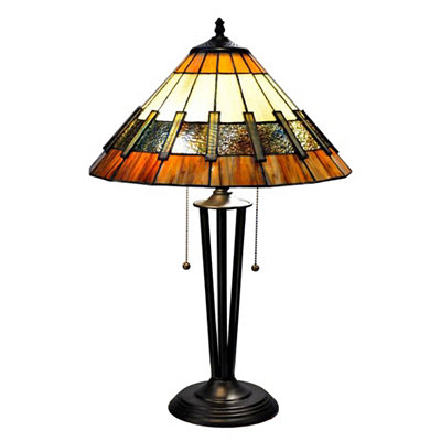Tapered Iron Tiffany Table Lamp