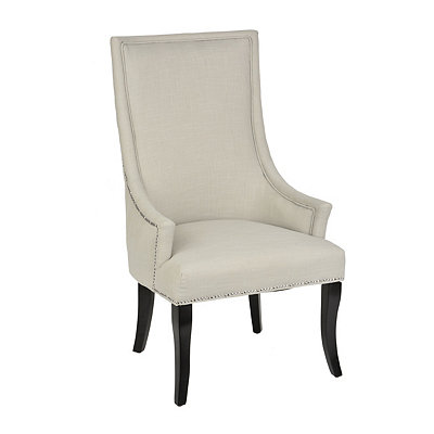 Chatham Light Gray Linen Arm Chair
