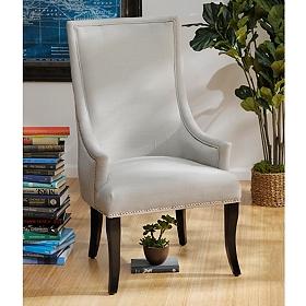 Chatham Light Gray Linen Arm Chair