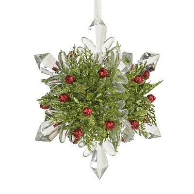 Winter Kisses Mistletoe Snowflake