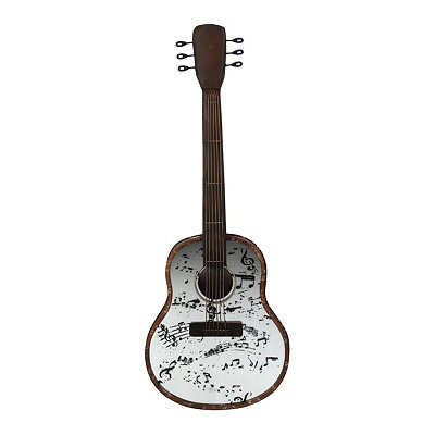 Mirrored Guitar Plaque