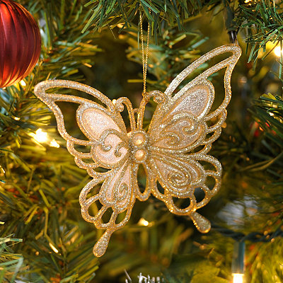 Silver and Gold Cutout Butterfly Ornament
