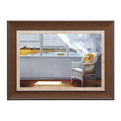 Lake Window Framed Art Print