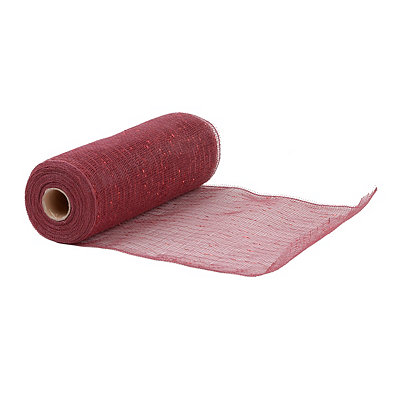 Dark Red Wide Mesh Ribbon