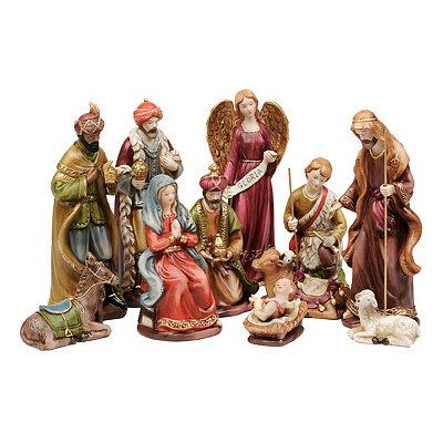 Ceramic Nativity Scene, Set of 11