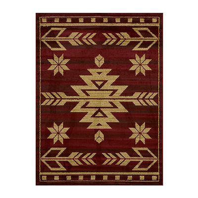 Red Teton Area Rug, 5x7