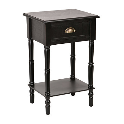 Black Beadboard Accent Table