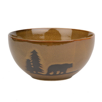 Brown Woodland Bear Bowl