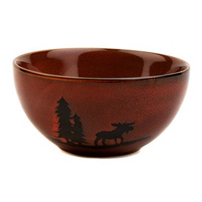 Red Woodland Moose Bowl