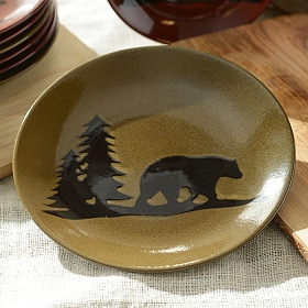 Brown Woodland Bear Dinner Plate